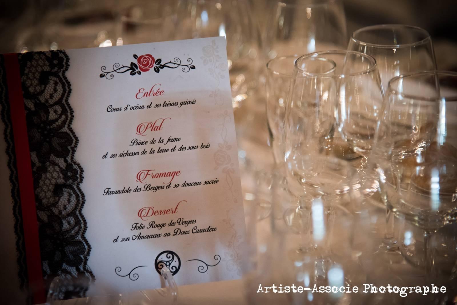 Organisation de mariage romantique la d coration noir blanc et rouge en gironde in love - Photo romantique noir et blanc ...